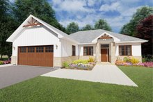Architectural House Design - Ranch Exterior - Front Elevation Plan #126-180