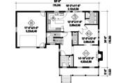 Country Style House Plan - 3 Beds 2 Baths 2216 Sq/Ft Plan #25-4468 Floor Plan - Main Floor Plan