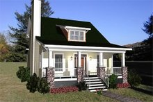 Bungalow Exterior - Front Elevation Plan #79-204