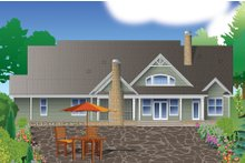 Craftsman Exterior - Rear Elevation Plan #929-7