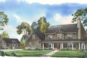 Traditional Style House Plan - 4 Beds 4.5 Baths 4581 Sq/Ft Plan #490-1 Exterior - Front Elevation