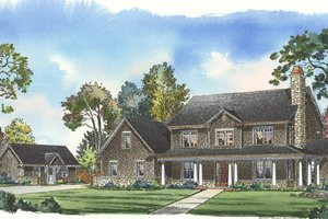 Traditional Exterior - Front Elevation Plan #490-1