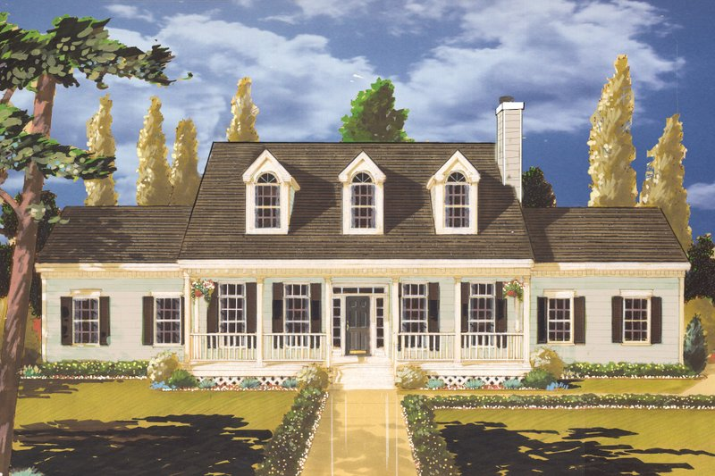 Home Plan - Southern Exterior - Front Elevation Plan #3-206