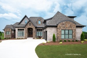 European Exterior - Front Elevation Plan #929-893