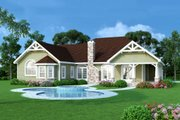 Craftsman Style House Plan - 3 Beds 3 Baths 2498 Sq/Ft Plan #456-33 Exterior - Other Elevation