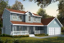 Home Plan Design - Colonial Exterior - Front Elevation Plan #98-210