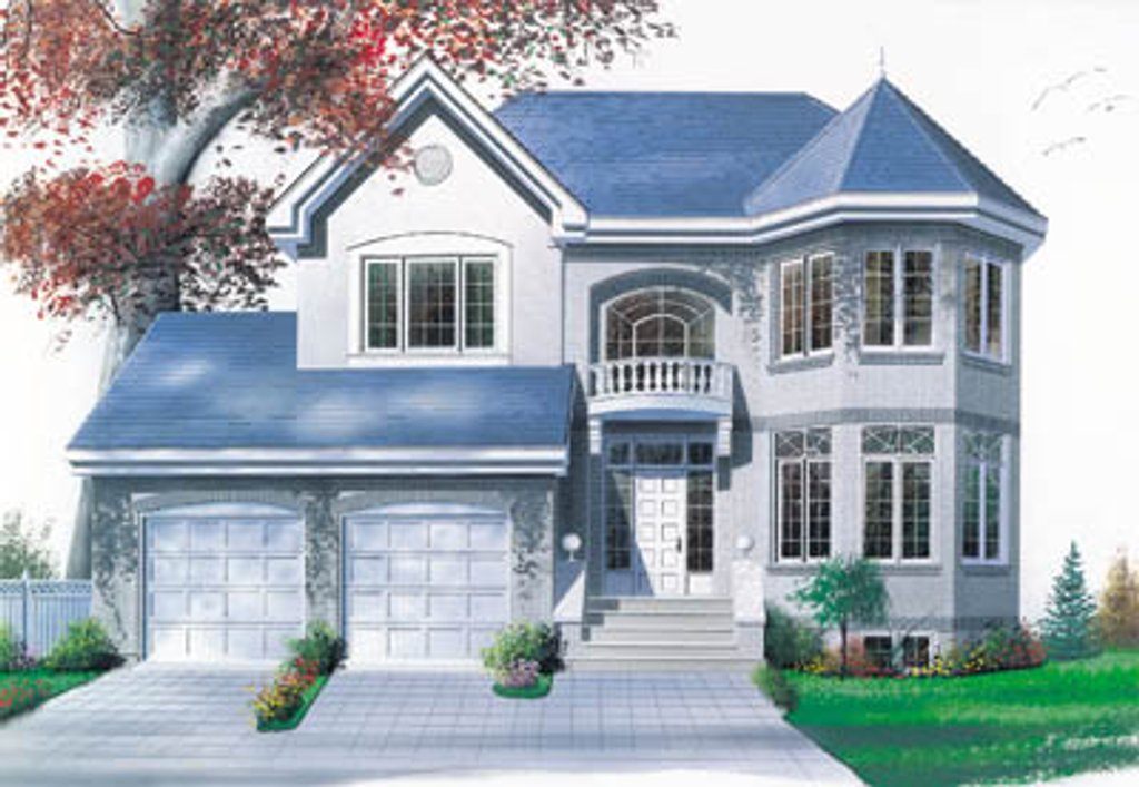 European Style House Plan - 3 Beds 2.5 Baths 2030 Sq/Ft ...