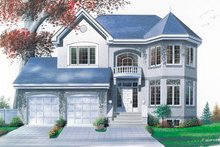 European Exterior - Front Elevation Plan #23-2006
