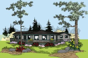 Architectural House Design - Contemporary Exterior - Front Elevation Plan #60-1004