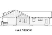 Bungalow Exterior - Rear Elevation Plan #434-7