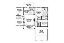 European Floor Plan - Main Floor Plan Plan #21-214
