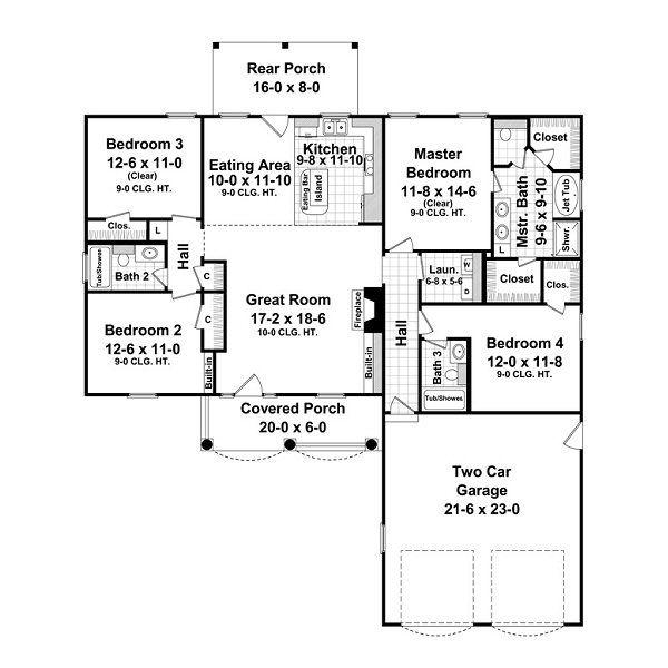 European Floor Plan - Main Floor Plan #21-214