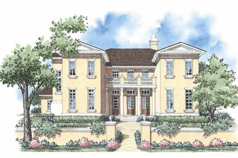 European Style House Plan - 5 Beds 3.5 Baths 3578 Sq/Ft Plan #930-332 Exterior - Front Elevation