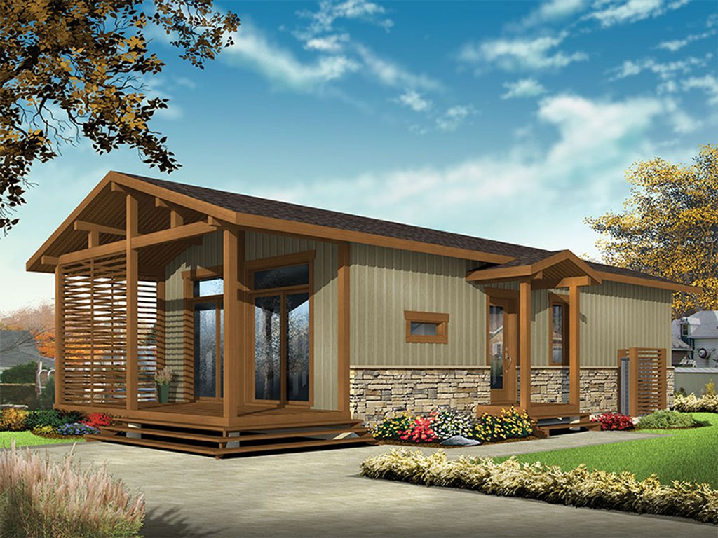Contemporary Style House Plan 2 Beds 1 Baths 700 Sq Ft Plan 23 2603 Dreamhomesource Com,Hidden Toy Storage In Living Room