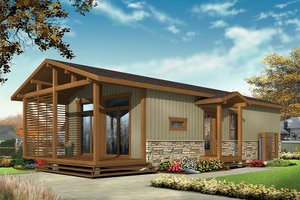 Home Plan - Contemporary Exterior - Front Elevation Plan #23-2603