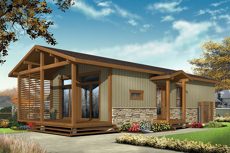 House Design - Contemporary Exterior - Front Elevation Plan #23-2603