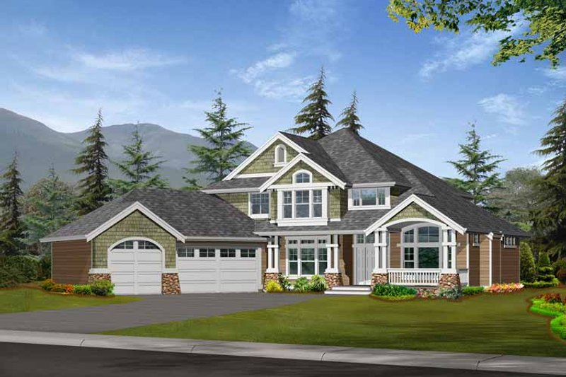 Dream House Plan - Craftsman Exterior - Front Elevation Plan #132-373