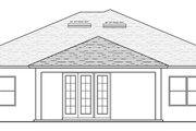 Mediterranean Style House Plan - 3 Beds 2 Baths 1934 Sq/Ft Plan #1058-116 Exterior - Rear Elevation
