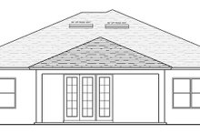 House Plan Design - Mediterranean Exterior - Rear Elevation Plan #1058-116