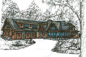 Craftsman Exterior - Front Elevation Plan #921-25