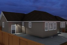 House Plan Design - Ranch Exterior - Rear Elevation Plan #1060-11