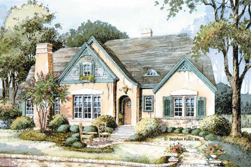 Country Exterior - Front Elevation Plan #429-308 - Houseplans.com
