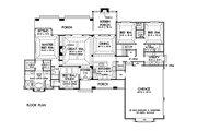 Craftsman Style House Plan - 4 Beds 3 Baths 2533 Sq/Ft Plan #929-24 Floor Plan - Main Floor