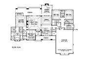 Craftsman Style House Plan - 4 Beds 3 Baths 2533 Sq/Ft Plan #929-24 Floor Plan - Main Floor
