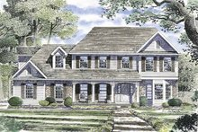 Architectural House Design - Country Exterior - Front Elevation Plan #316-134
