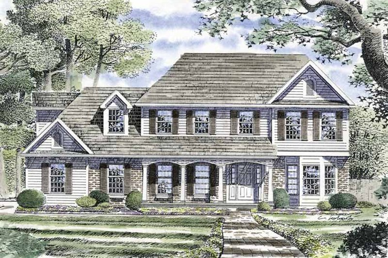 Country Exterior - Front Elevation Plan #316-134 - Houseplans.com