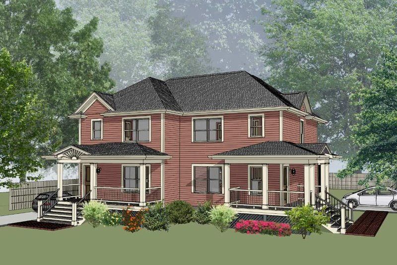 House Plan Design - Traditional Exterior - Front Elevation Plan #79-239