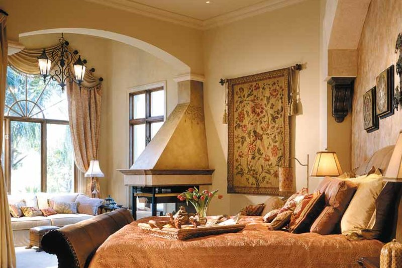Mediterranean Interior - Master Bedroom Plan #930-325 - Houseplans.com