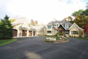 European Style House Plan - 4 Beds 3.5 Baths 4347 Sq/Ft Plan #928-178 Exterior - Front Elevation