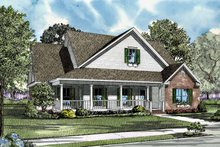 Home Plan - Country Exterior - Front Elevation Plan #17-2999