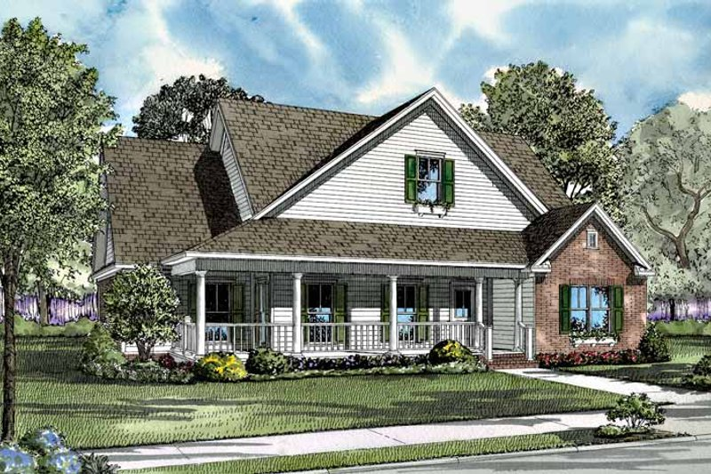 Country Exterior - Front Elevation Plan #17-2999 - Houseplans.com