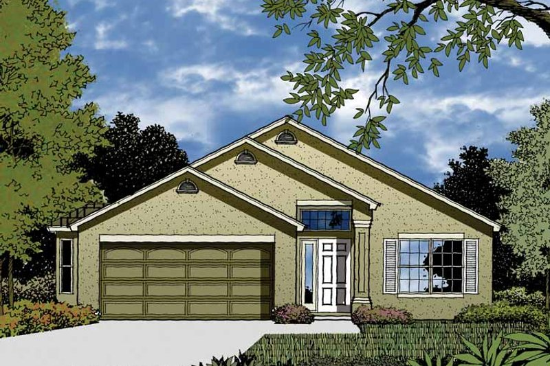 Contemporary Exterior - Front Elevation Plan #1015-29 - Houseplans.com