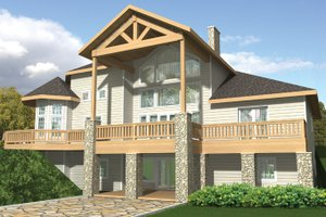 House Design - Contemporary Exterior - Rear Elevation Plan #117-844