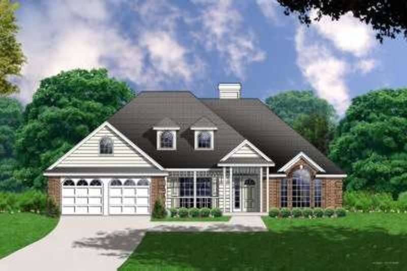 Traditional Exterior - Front Elevation Plan #40-173 - Houseplans.com