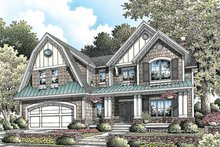 Colonial Exterior - Front Elevation Plan #929-977