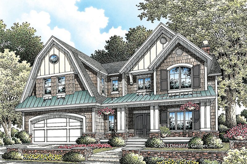 House Plan Design - Colonial Exterior - Front Elevation Plan #929-977