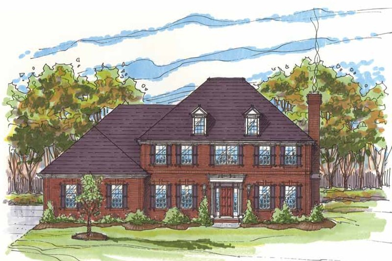 Traditional Exterior - Front Elevation Plan #435-8 - Houseplans.com