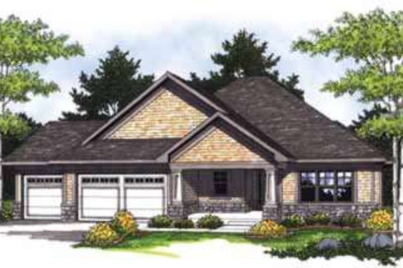 Dream House Plan - Traditional Exterior - Front Elevation Plan #70-828