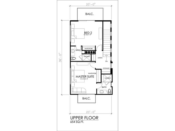 Modern Floor Plan - Upper Floor Plan #484-3