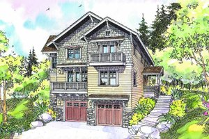 House Blueprint - Craftsman Exterior - Front Elevation Plan #124-549