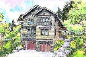 House Blueprint - Craftsman Exterior - Front Elevation Plan #124-549