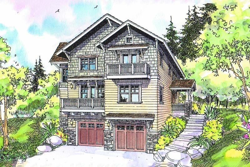 Home Plan - Craftsman Exterior - Front Elevation Plan #124-549