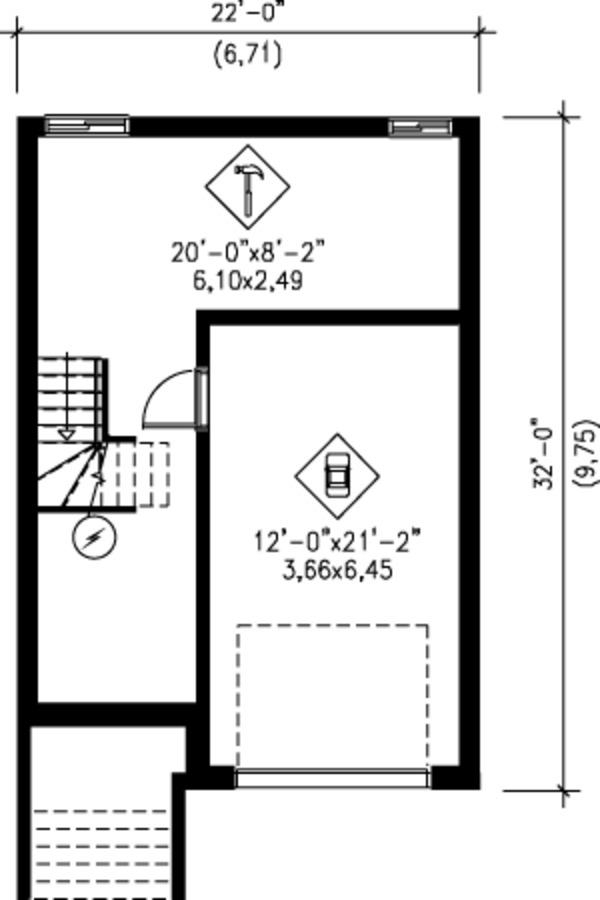 Victorian Floor Plan - Lower Floor Plan Plan #25-4228