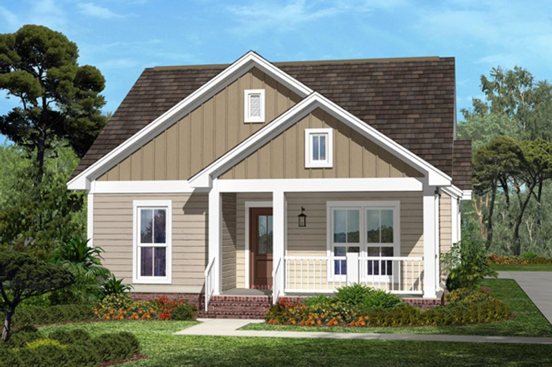 Dream House Plan - Cottage Exterior - Front Elevation Plan #430-41