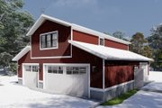 Farmhouse Style House Plan - 1 Beds 2 Baths 880 Sq/Ft Plan #1060-82 Exterior - Front Elevation