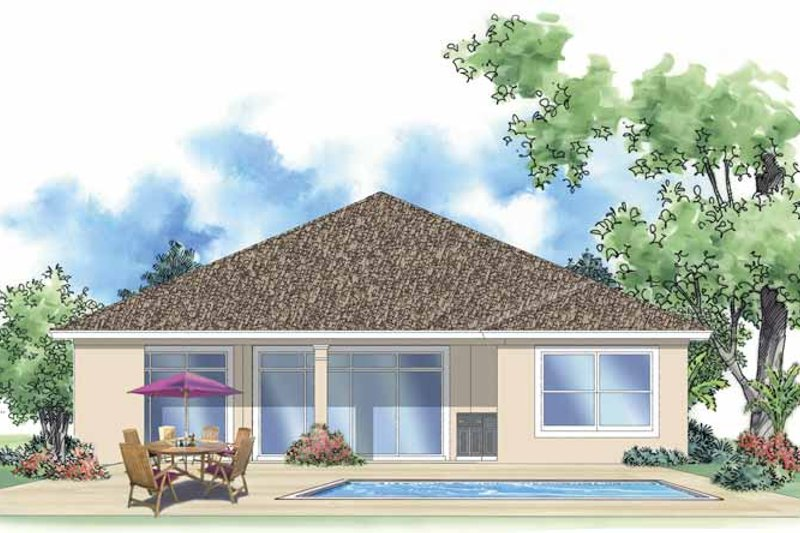 Mediterranean Exterior - Rear Elevation Plan #930-388 - Houseplans.com